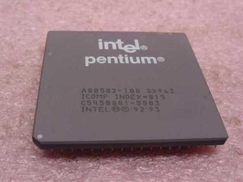 Intel P1 100 mHz Pentium Processor A80502100 (SX963)