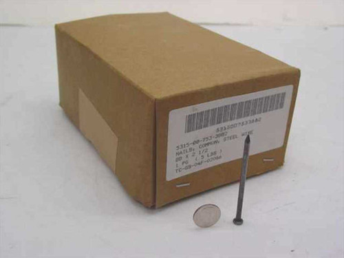 """Universal Fasteners Common Steel Wire 8D 2.5"""" Nails 5lbs Box (5315-00-753-3882)"""