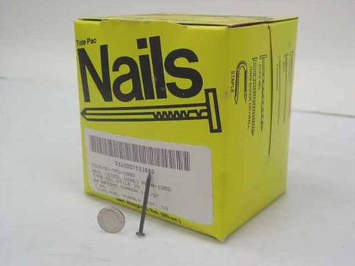 "Tote Pac Type II Style 10 4d Bright Common 1.5"" Nails 5lbs Box"