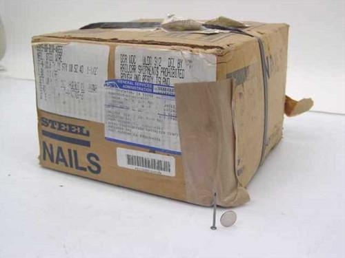 "CF&I Steel Type II Style 10 4D 1.5"" Nails 50lbs Box (5315-00-010-4655)"