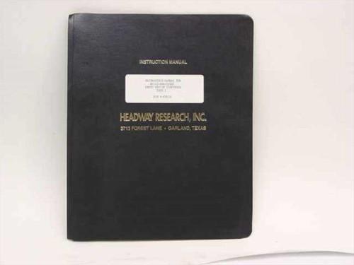 Headway Research Instruction Manual for EC102-NRD/EC101 Photo Resist Dispenser