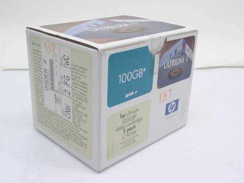 Hewlett Packard C7970A 100GB Ultrium 1 Data Cartridge - 5 Pack