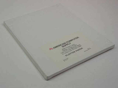 "American Computer Supply 8.5"" x 11"" 80 lb 50 pack Plotter Paper"