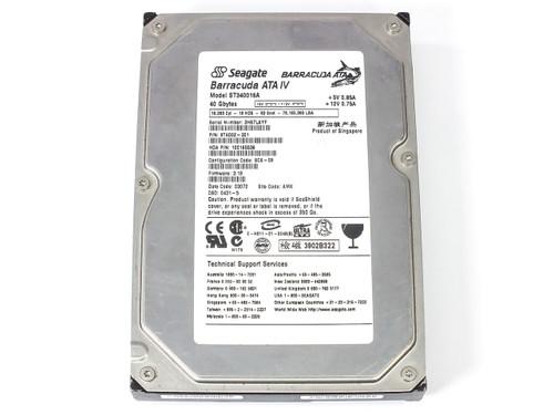 """Seagate ST340016A 40GB 3.5"""" IDE Hard Drive Barracuda ATA IV 9T6002"""
