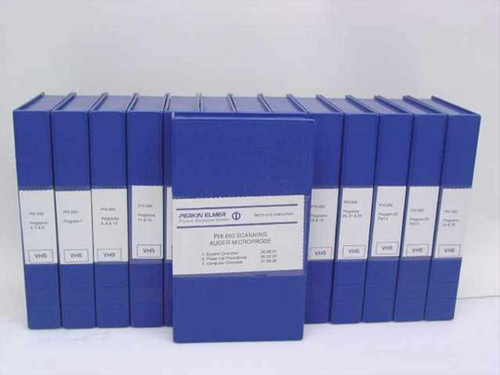Perkin Elmer 12 Videotapes of Technical Instruction - 25 Programs