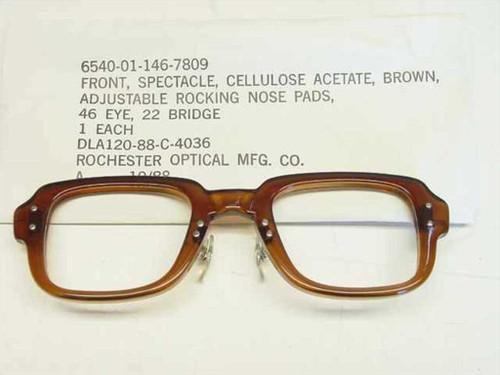 USS Classic Horn-Rimmed Eyeglasses Frame 6540-01-146-7809 Size: 46 Eye 22 Bridge