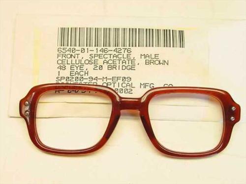 USS Classic Horn-Rimmed Eyeglasses Frame 6540-01-146-4276 Size: 48 Eye 20 Bridge