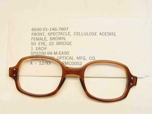 USS Classic Horn-Rimmed Eyeglasses Frame (6540-01-146-7807)