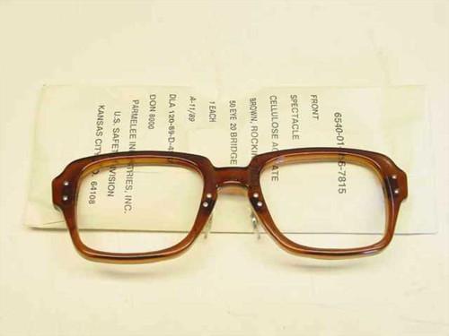 USS Classic Horn-Rimmed Eyeglasses Frame 6540-01-146-7815 Size: 50 Eye 20 Bridge