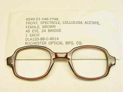 USS Classic Horn-Rimmed Eyeglasses Frame 6540-01-146-7799 Size: 48 Eye 24 Bridge