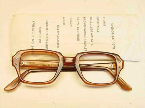 USS Classic Horn-Rimmed Eyeglasses Frame (6540-01-147-4679)