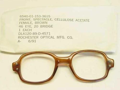 USS Classic Horn-Rimmed Eyeglasses Frame (6540-01-153-3615)