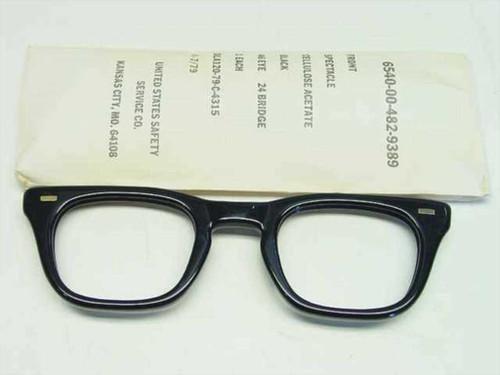 USS Classic Horn-Rimmed Eyeglasses Front Frame 6540-00-482-9389 Size: 46 Eye 24 Bridge