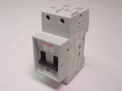 Entrelec Circuit Breaker, 20A, 2 Pole Time Delay 10194327