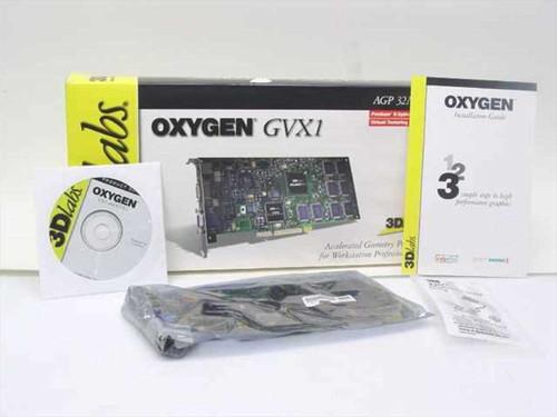 3DLabs Oxygen GVX1 32MB AGP Graphics Accelerator Video Card PIII