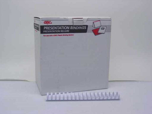 "GBC 1"" 19 Ring White Binding Combs - 77 pcs. (4000115)"