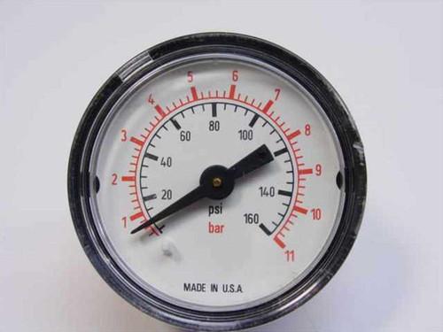 "Pressure Gauge 1 1/2"" Pressure Gauge 160 PSI / 11 BAR (1.5 Inch)"