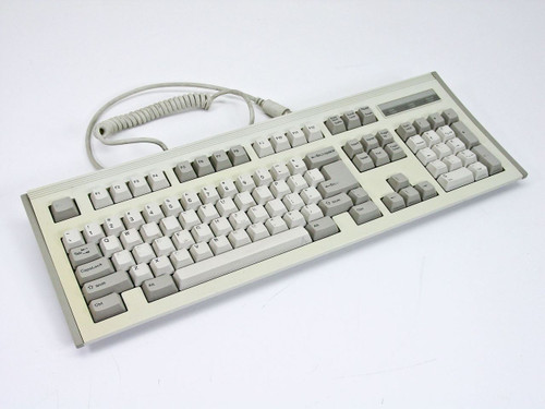 BTC AT Keyboard VINTAGE Style with Coiled Cable - TESTED GOOD (BTC-7000)