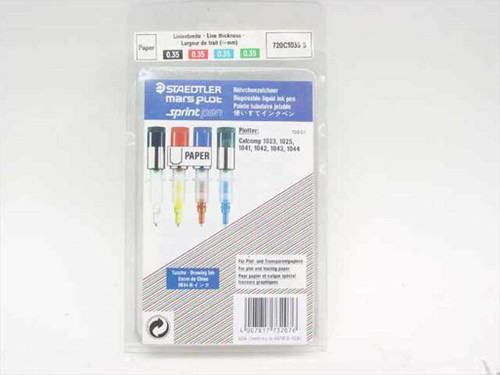 Staedtler 720C 1035 S Disposable liquid ink pens for plot and tracing paper