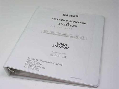 Opalport Electronics Battery Monitor & Analyser User Manual BA350B