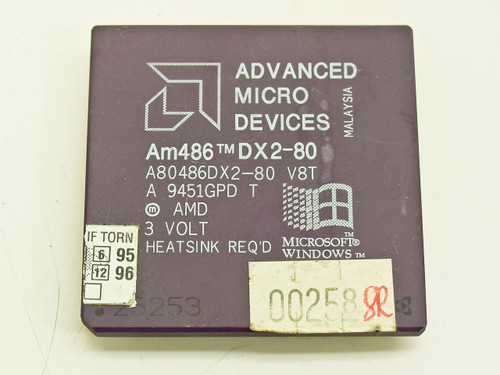 AMD 486 DX2-80 80MHz CPU (A80486DX2-80 V8T)