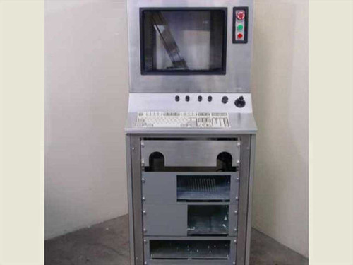 """Stainless Steel Rackmount Cabinet Controller w Monitor Bay (19"""")"""
