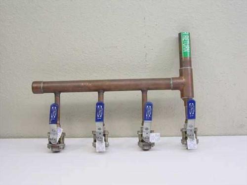 Nibco 595-Y-66 4 Line Copper Water Manifold