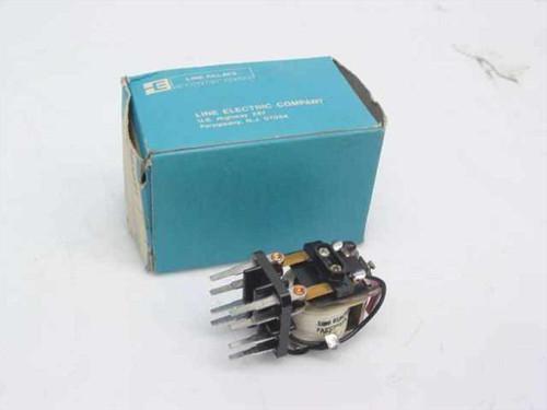 Line Electric Co. DPDT Relay 110VDC MKT2D