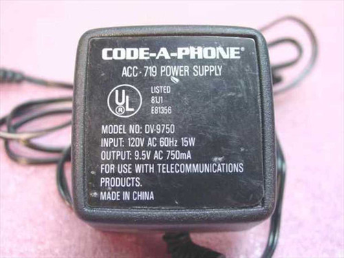 Code-A-Phone 9.5 VAC Power Supply ACC-719