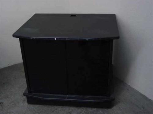 CRT & LCD Flat Panel  TV Cabinet with Black Glass Doors w/ 2 Shelf Multimedia