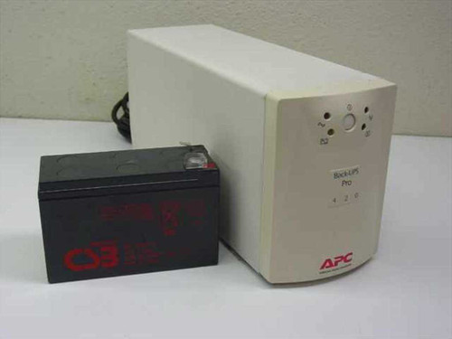 APC 420 VA Battery Back-Up UPS - Broken Face Plate (Back-Ups Pro 420PNP)