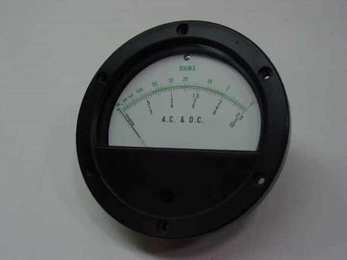"Q.V.S. Inc OHM Meter Movement - 4.5"" Diameter MOD-450R"