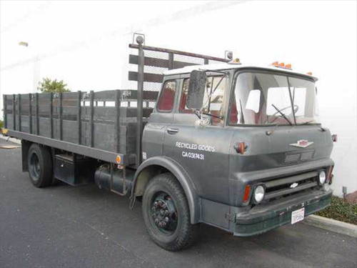 Chevy Viking C60 1965 Classic 20' Tilt-Cab Stakebed Truck 350 V8 4-Barrel