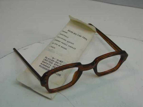 USS Military Issue Classic Vintage Horn-Rimmed glasses Frame (6540-01-146-7825)