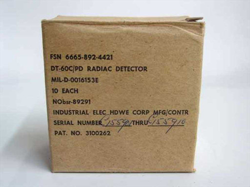 IEHC Ground Troop Military Radiac Detector Badge Box of 10 DT-60C/PD