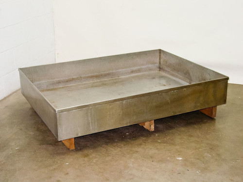 "Stainless Steel Large Lab Safety Chemical Catch Basin (38"" x 52"" x 8"")"