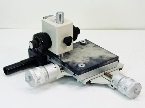 "Mitutoyo 6"" x 6"" XY Stage 50mm micrometers Olympus BHMJ (197-201)"