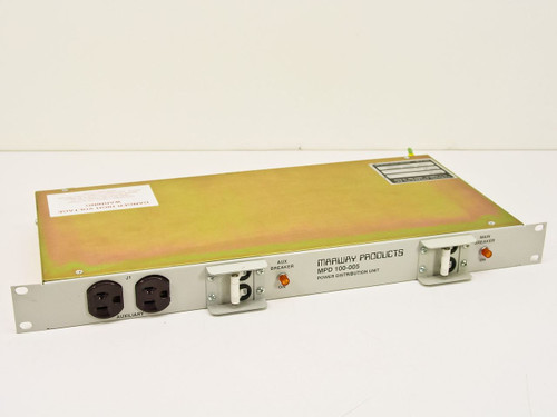 Marway Products MPD 100-005 1U Rackmount Power Strip 30 Amp Breakers 8-Port
