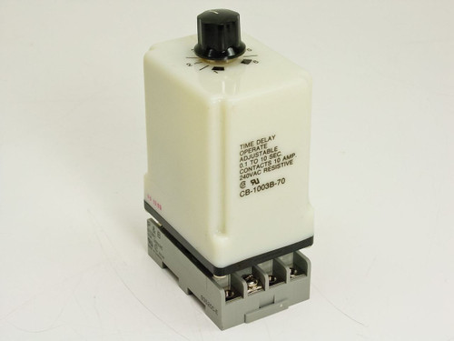 Potter & Brumfield Time Delay Operate Adjustable 0.1 to 10Sec (CB-1003B-70)