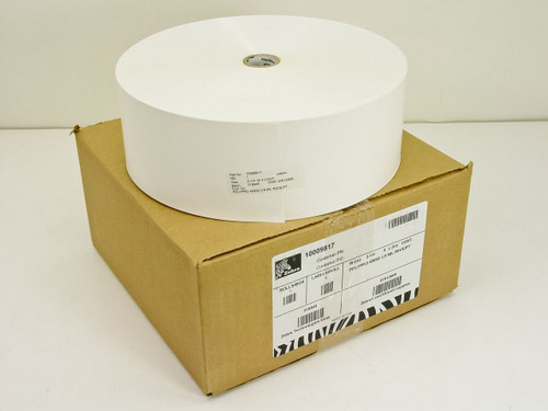 """Zebra 3-1/4""""W - POLYPRO 4000D 3.8 MIL Receipt label  10009817"""