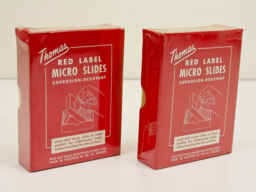 Thomas 6685-F20 Red Label 3x1 Microscope Slides - Lot of 2 Boxes