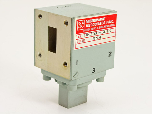 Microwave Associates RF Circulator WR62 Ku-Band 12.4~18 GHz Magnetic (MA-8K220)