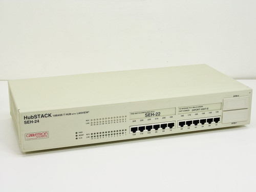 Cabletron Hubstack 10 Base-T 12-Port Hub w/Lanview (configur (SEH-24)