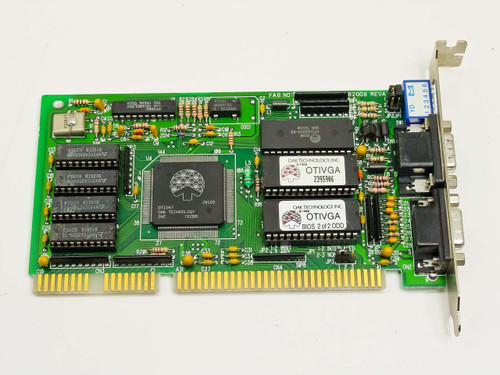 Oak Technology Dual Video Card - 9 pin Digital 15-pin Analog (1067162008 rev A)