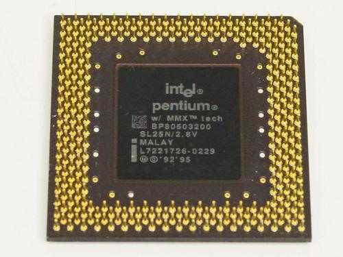 Intel Pentium MMX 200MHz Processor BP80503200 (SL25N)