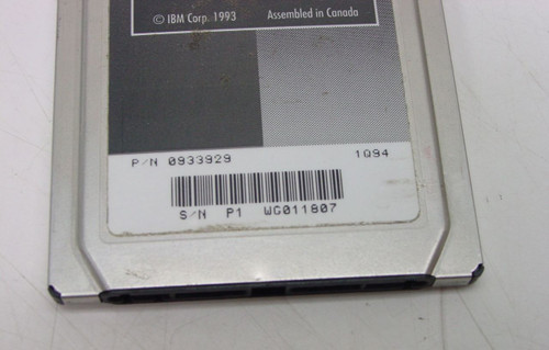 IBM PCMCIA Token Ring 16/4 Card 0933929