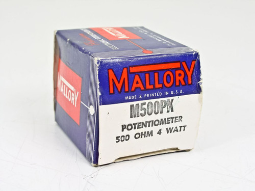 Mallory Potentiometer 500 OHM 4 WATT (M500PK)