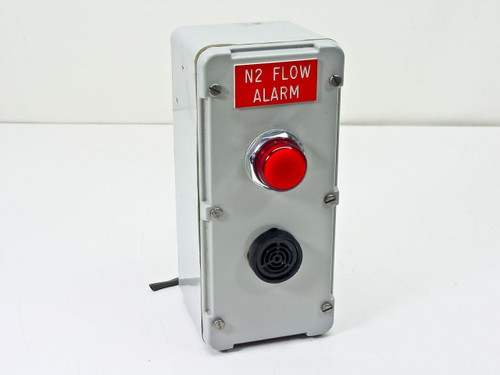 Hoffman Enclosure with Telemecanique alarm light and Sonalert tone alarm