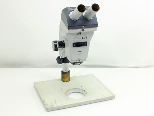 Zeiss SV 8 Stemi Stereo Microscope with Focus Block and Stand SV8