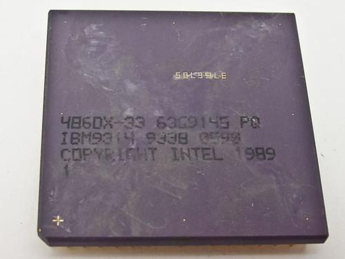 Intel 486DX-33 CPU IBM9314 (486DX-33)